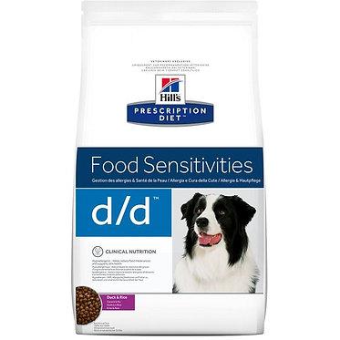"d/d | Hill's Prescription Diet לכלב (עם ברווז ואורז), 12 ק""ג"
