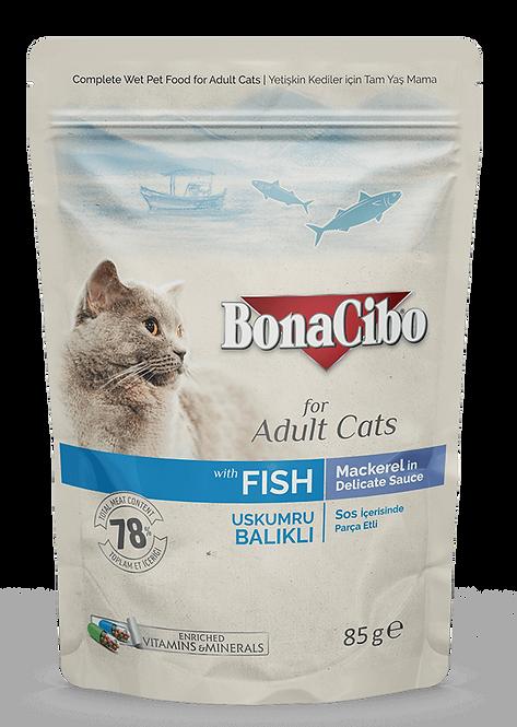פאוץ בונאסיבו חתול בוגר מקרל 85 גרם
