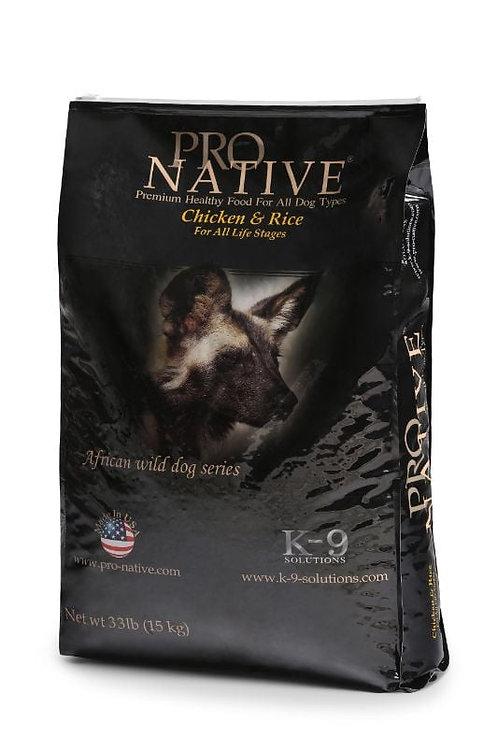 פרו נייטיב עוף ואורז מזון יבש לכלבים