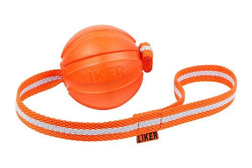 LIKER 5 כדור עם רצועה לגורים וכלבים מגזעים קטנים