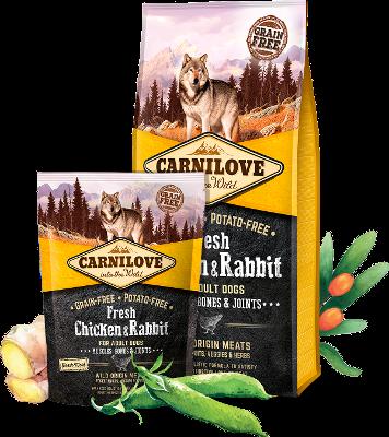 קרנילאב פרש עוף וארנבת מזון לכלבים