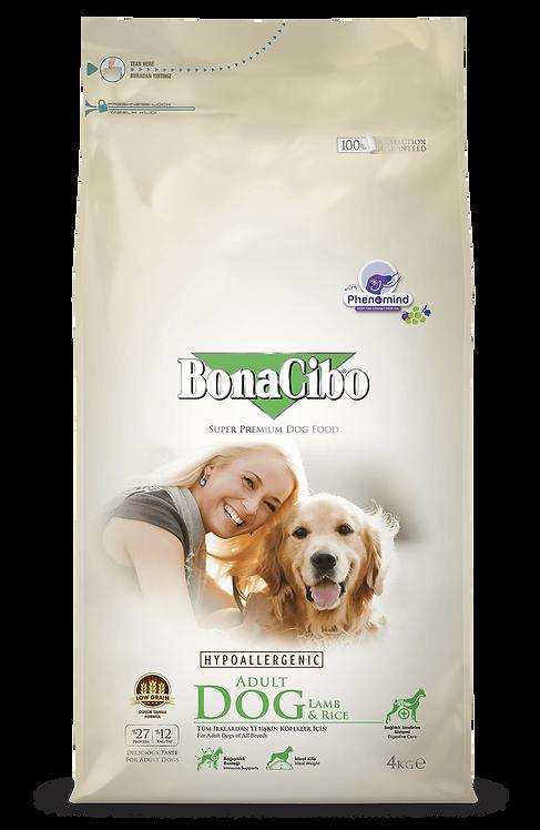 """בונאסיבו מזון לכלב בוגר כבש 4 ק""""ג"""