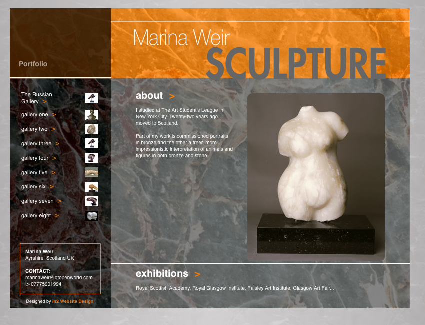 Sculptures website
