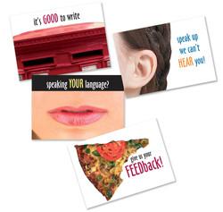 Dewars postcards