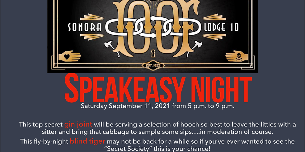 Second Saturday Speakeasy Night