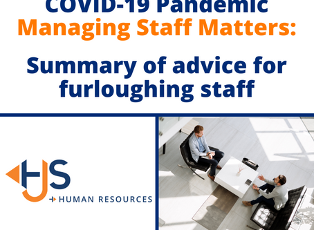 Summary of advice for furloughing staff