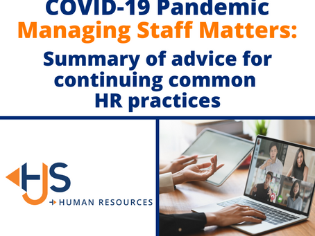 Summary of advice for continuing common HR practices