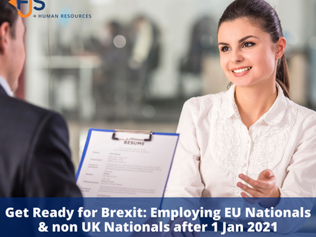 Get Ready for Brexit: Employing EU Nationals and non UK Nationals after 01 January 2021