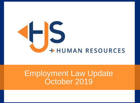 Employment Law Update - October 2019