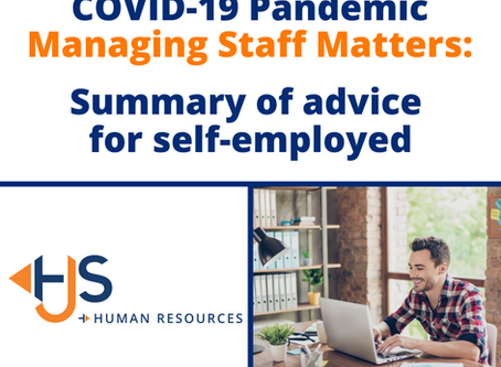 Summary of advice for the self-employed