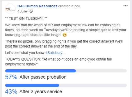 Weekly HR 'Quiz' Producing Some Interesting Results...