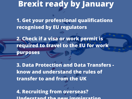 Brexit transition: New rules for businesses from 01 January 2021