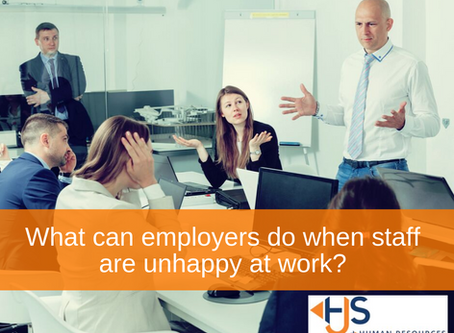 What can employers do when staff are unhappy at work?