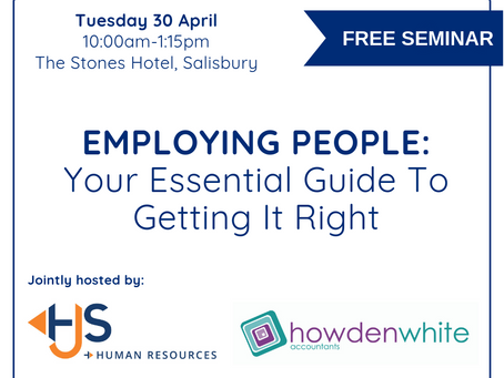 FREE Seminar! Employing People - Your Essential Guide To Getting It Right