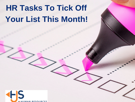 HR Tasks To Tick Off Your List This Month