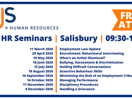 Free HR Seminars in 2020: Dates Released!