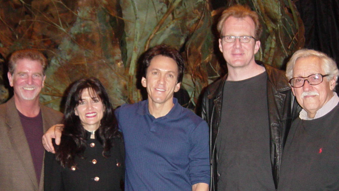 "with Mitch Albom and ""Morrie"" actors"