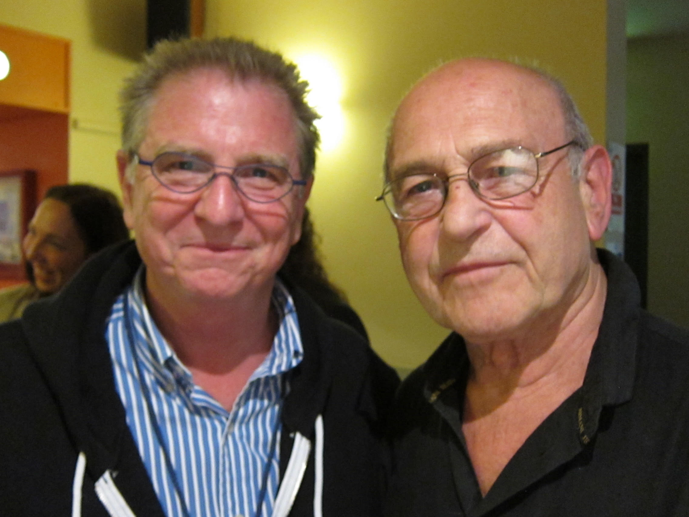 with Irish playwright Tom Murphy