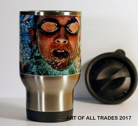 Travel mug with any photo/s