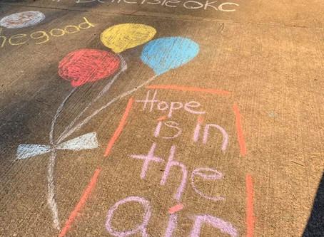Neighborhood Chalk Art Brings Smiles to Everyone