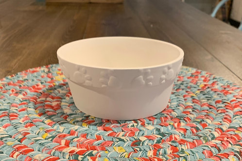 Medium Paw Print Pet Bowl