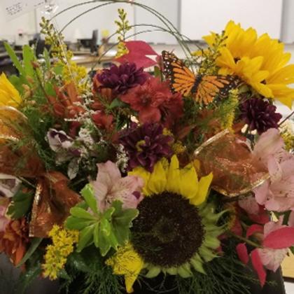 Autumn Sunflower Floral Design