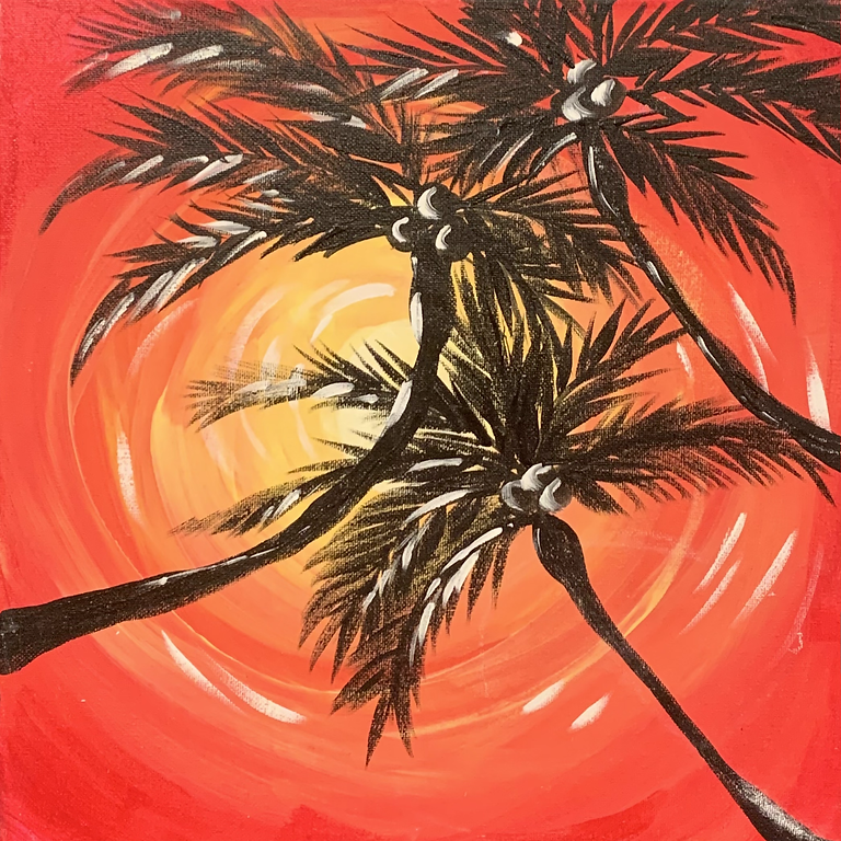 Teen Night Out: Sunset Paint Party & Tropical Slushies