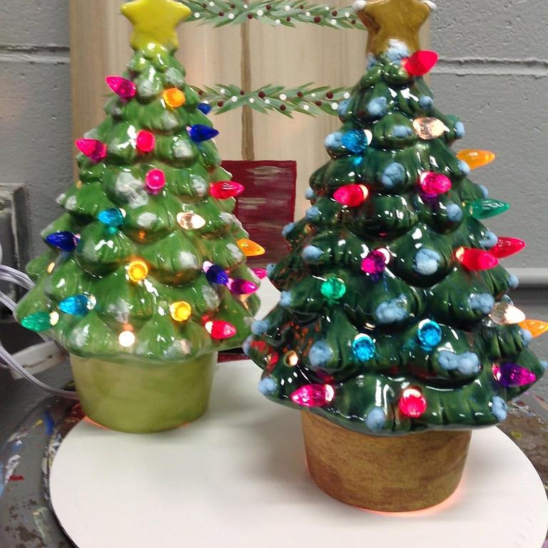 Ceramic Christmas Tree Glazing