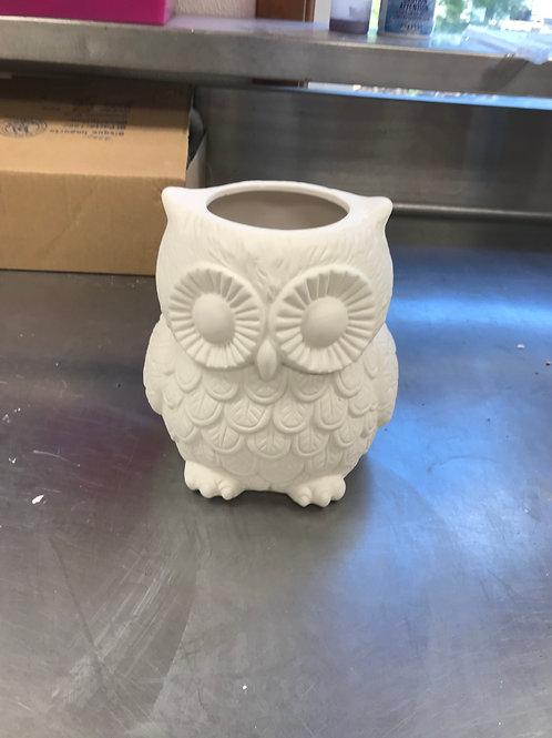 Large Ceramic Owl Jar