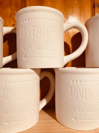 """Adventure Awaits"" Coffee Mug"