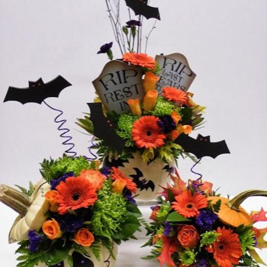 Halloween Floral Centerpiece Design