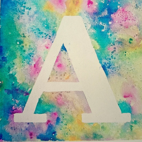 Mixed Media Monogram Paint