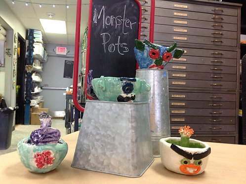 Pinch Pot Creations with Video Instruction