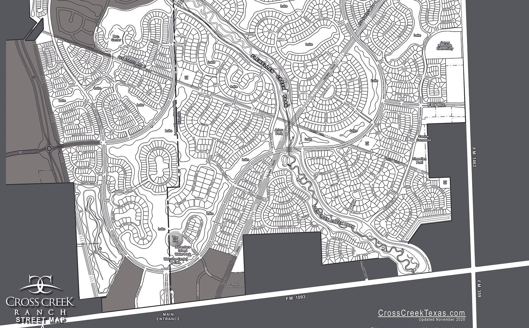 1350A_Cross Creek Ranch_Driving Map A_11