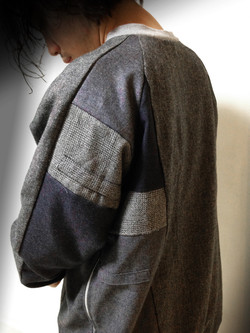 used slacks-clothes patch-work P/O