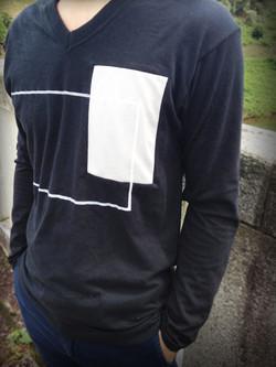 square patch-print cut&sew