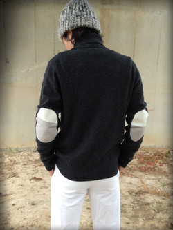 elbow patch knit (patchwork-leather)
