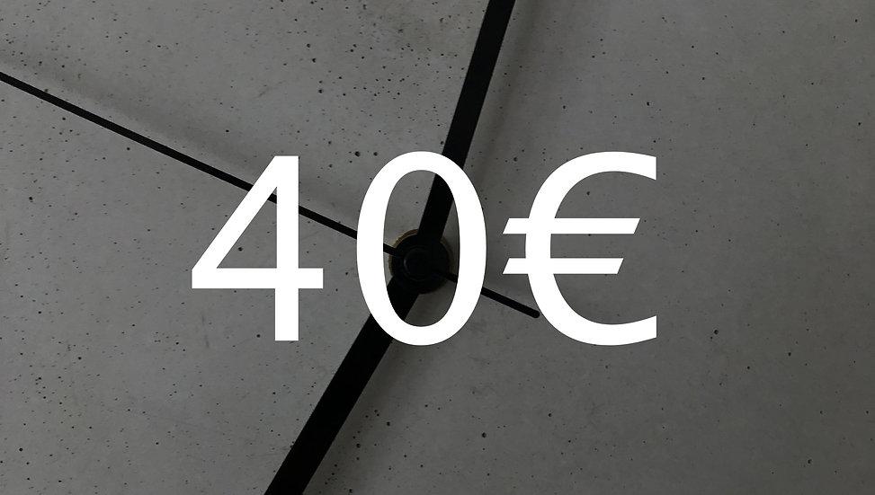 Graubetont Gutschein 40