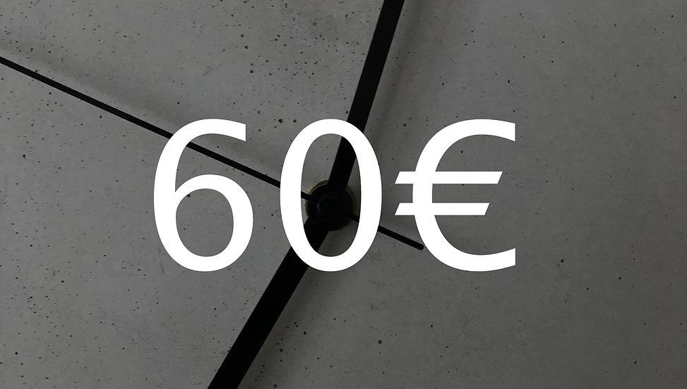Graubetont Gutschein 60