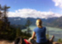 Deborah Richards hiking Squamish Chief