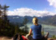 Deborah Richards hiking Squamish Chief