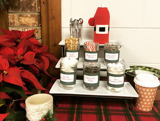 Hot Cocoa Party Bar!  DIY with printable!