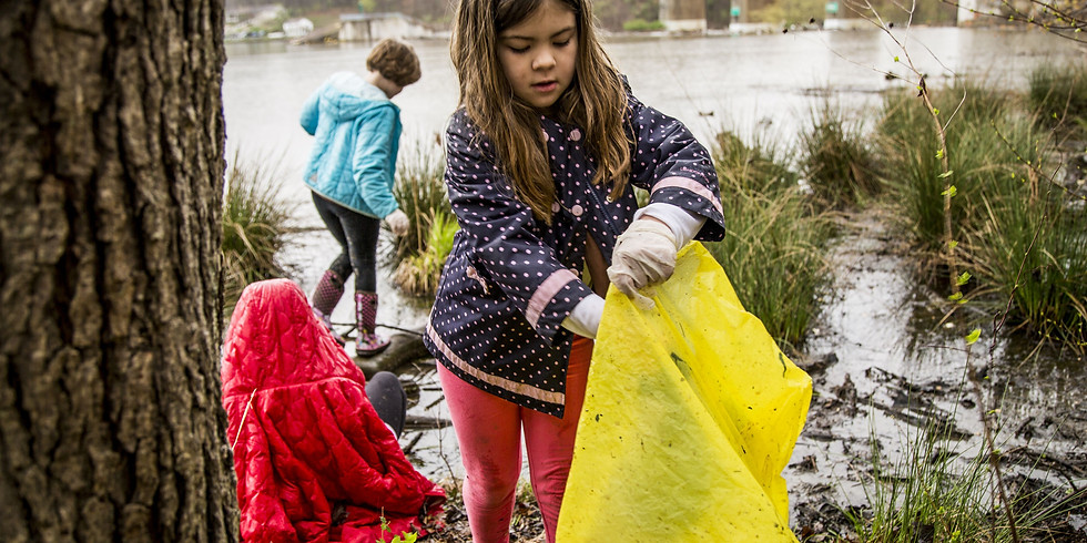 Trash Clean Up At Oxley Nature Center