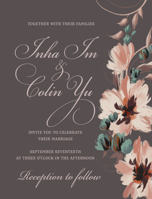 Inha and Colin Wedding Stationery