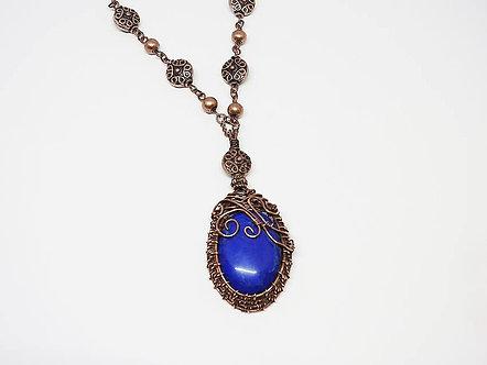 Blue Howlite in Copper