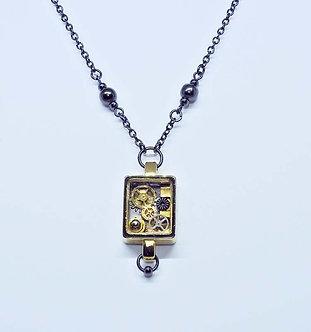 Vintage Watch Case Necklace
