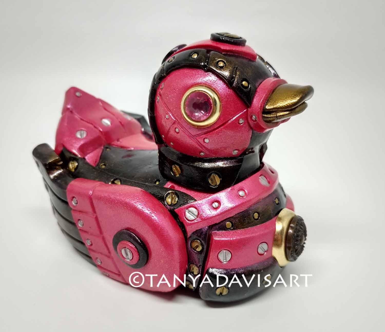 Pink Steampunk Duck