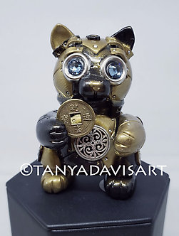 Steampunk Lucky Cat