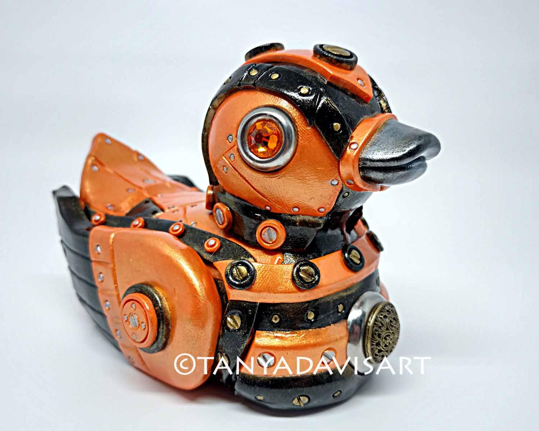 Orange Steampunk Duck