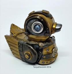 Gold Steampunk Duck